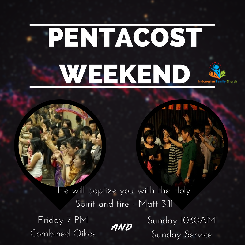 Pentacost Weekend